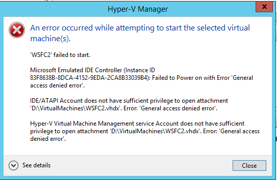 Hyper-V Error 12700 – When Trying to Load Virtual Hard disk File